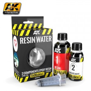 RESIN WATER 2 COMPONENTS EPOXY RESIN 375ML