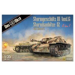 Das Werk 2 in 1 Sturmgeschütz III Ausf.G Sturmhaubitze 42 1/35