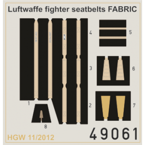 Seatbelts Luftwaffe WWII Fighters FABRIC 1/48