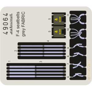 F-4 seatbelts grey FABRIC 1/48