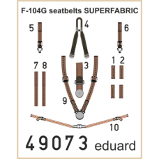 F-104G seatbelts SUPERFABRIC 1/48
