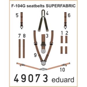 F-104G seatbelts SUPERFABRIC 1/48