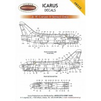 Icarus Decals A-7 Stencils 1/48