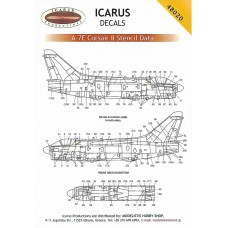 Icarus Decals A-7 Stencils 1/48 Black Friday Sale - 10%