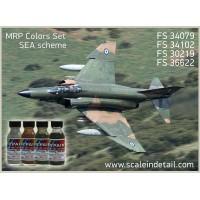 SEA (F-4, A-7, F-104, F-5 etc) Camouflage Scheme. Mr Paint colors
