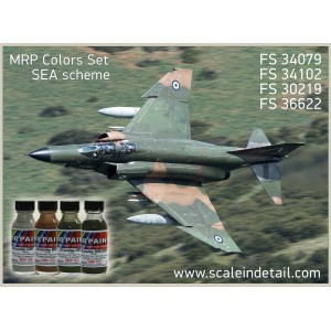 SEA (F-4, A-7, F-104, F-5 etc) Camouflage Scheme. Mr Paint colors