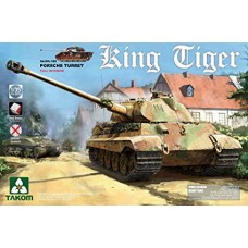 Takom 1/35 Sd.Kfz.182 King Tiger Porsche Turret w/interior [without Zimmerit] PRE-ORDER
