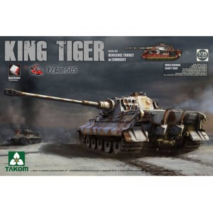 Takom 1/35 Sd.Kfz.182 King Tiger Henschel Turret w/Zimmerit and interior [Pz.Abt.505 special edition] PRE-ORDER