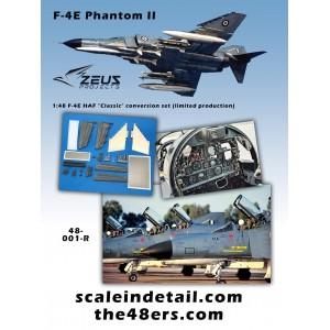 F-4E Phantom II Hellenic (Greek) Air Force detail conversion set for the Zoukei-Mura kit 1/48